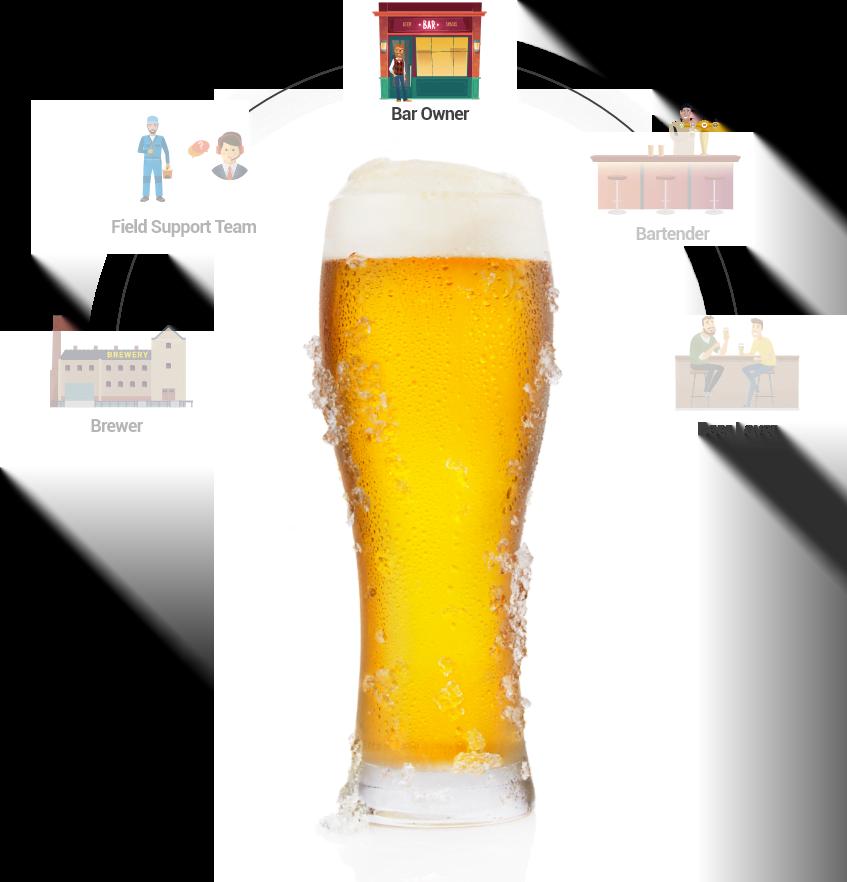 Bar owner draft beer