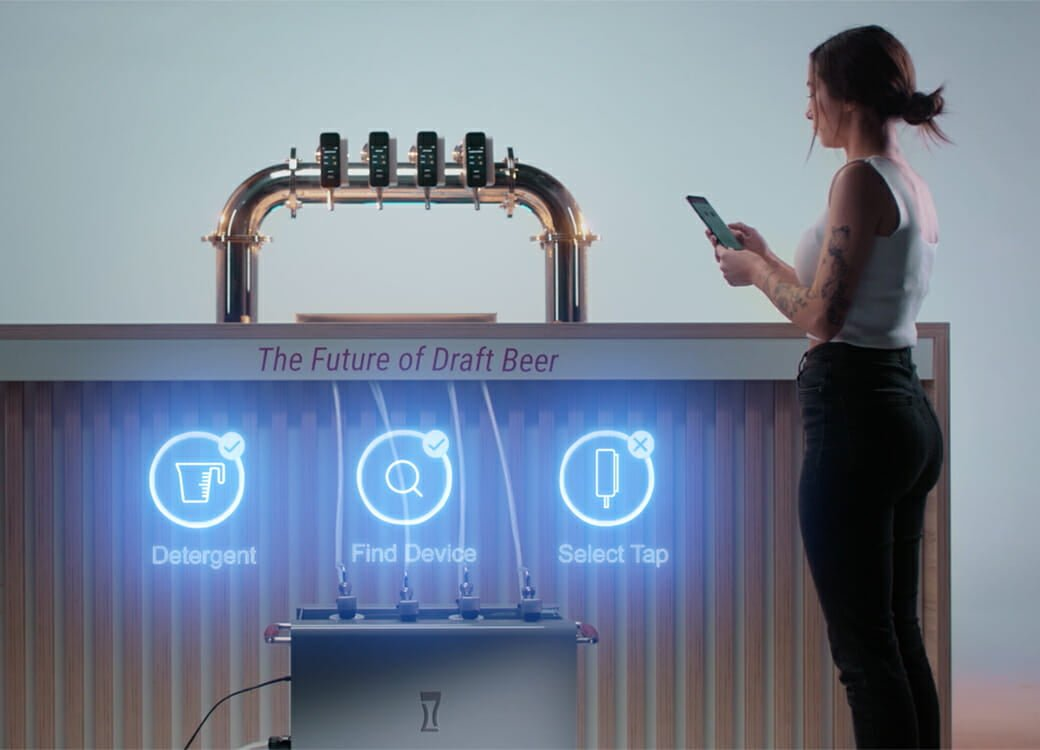 beer pouring system
