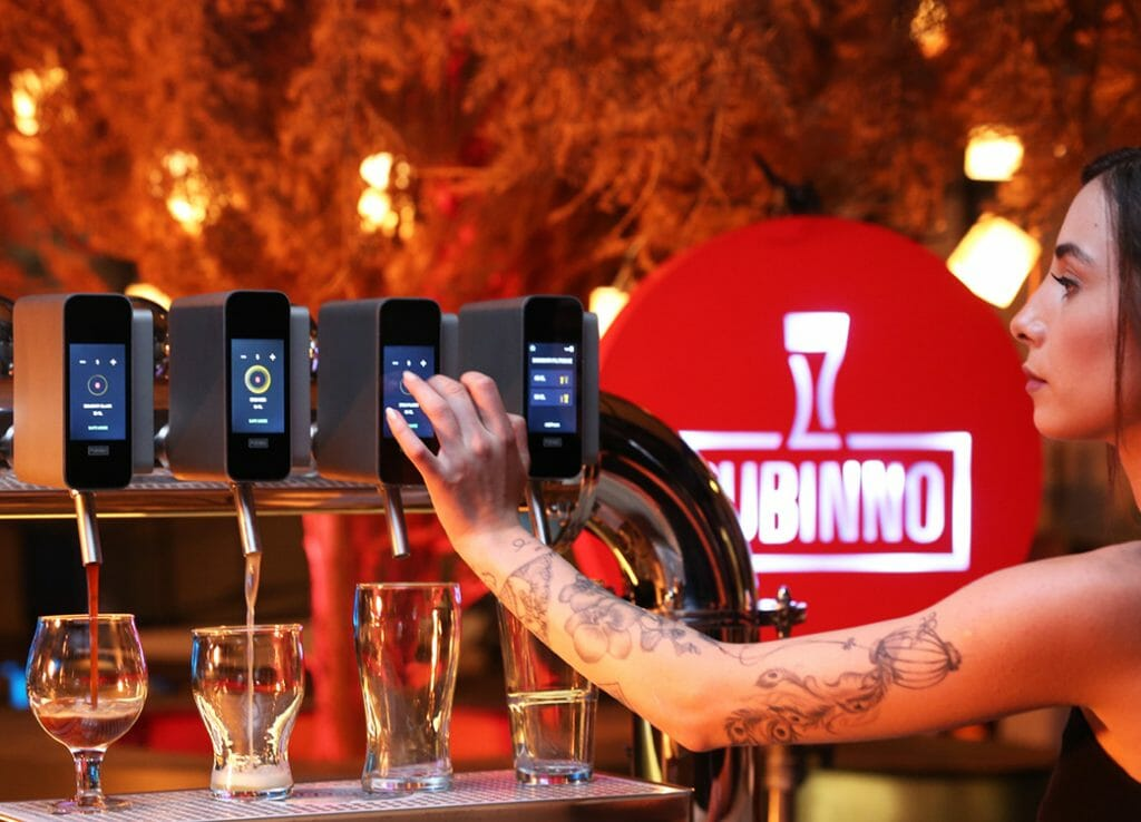 Automatic beer tap